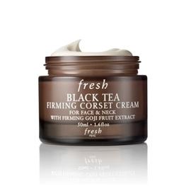 Fresh - Crema corsé reafirmante de té negro para rostro y cuello
