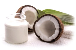 mascarilla de leche de coco con yogurt
