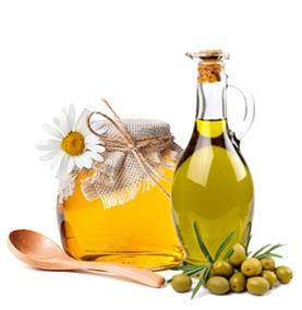 mascarilla de aceite de oliva y miel, miel y aceite de oliva